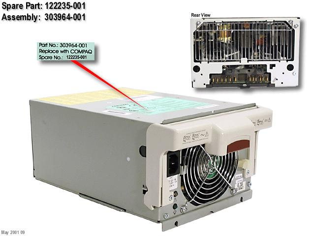 HPE Part 122235-001 Hot-Plug power supply (1150W)