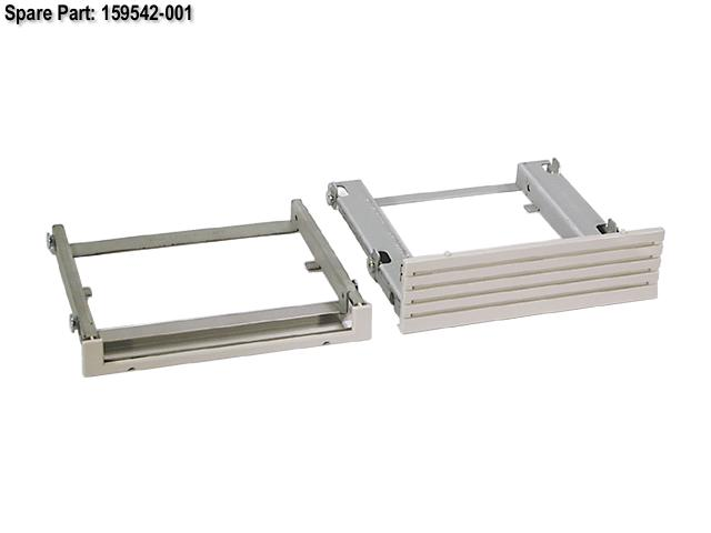 HPE Part 159542-001 Removable media drive bay filler panel kit - Includes one removable media drive bay filler panel and the CD-ROM drive mounting tray
