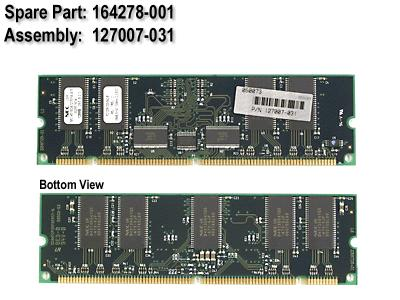 HPE Part 164278-001 128MB, 133MHz, registered ECC SDRAM DIMM memory module (168-pin) - (part of 201692-B21)