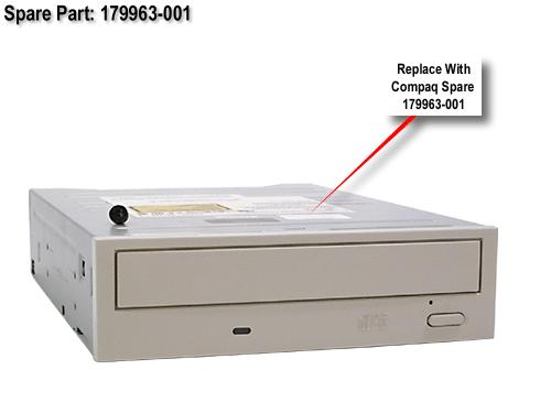 HPE Part 179963-001 IDE CD-ROM drive (Opal color) - 40X CD-R write