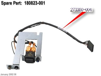 HPE Part 180823-001 Power Switch Cable with Bracket