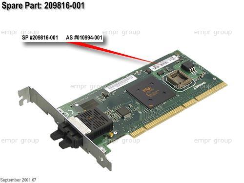 HPE Part 209816-001 NC6136 Gigabit server 1000Base SX network interface card (NIC) - 32/64-bit, 66MHz - Has one external fiber-optic duplex SC port and two indicator LEDs - Occupies one PCI 2.2 slot