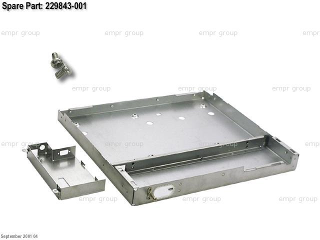 HPE Part 229843-001 Hardware kit - includes a metal tray for holding the keyboard, a metal cover for the controller board, and a grounding clip
