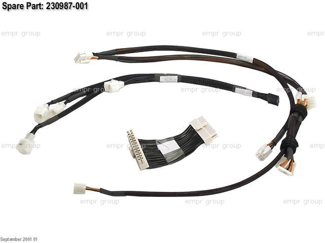 HPE Part 230987-001 Power Cable Kit - Includes 24-pin power supply cable, fan power cable, and power cable for floppy, CD-ROM and hard drives