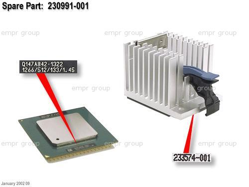 HPE Part 230991-001 Intel Pentium III processor - 1.26GHz (Tualatin, 133MHz front side bus, 512KB Level-2 cache, FC-PGA2, Socket 370) - Includes heat sink