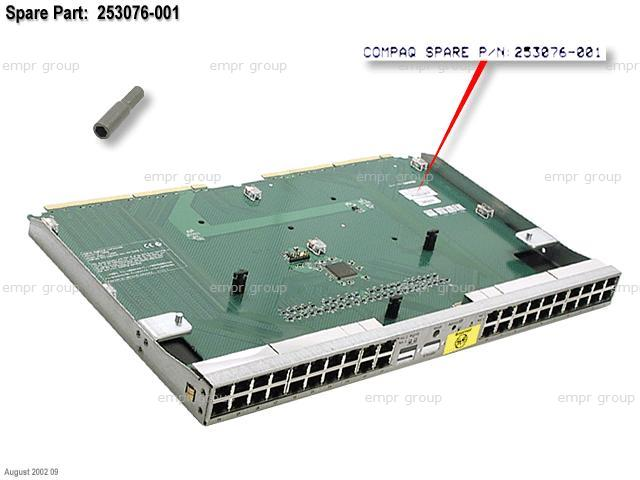HPE Part 253076-001 Patch panel interconnect board - RJ-45 - With tray