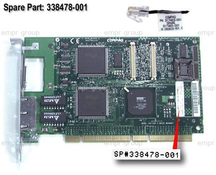 HPE Part 338478-001 10/100 NC3131 Unshielded Twisted Pair (UTP) Network Interface Card (NIC)