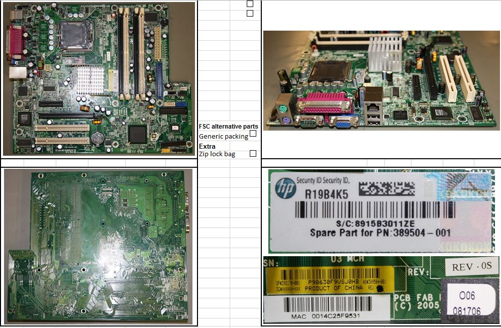 HPE Part 392170-001 System board