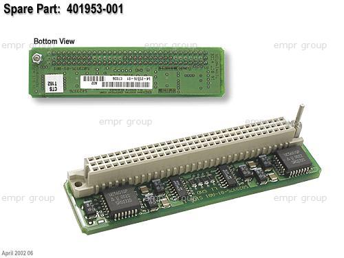 HPE Part 401953-001 SCSI terminator PC board assembly - 16-bit active internal terminator with 96-pin (F) connector