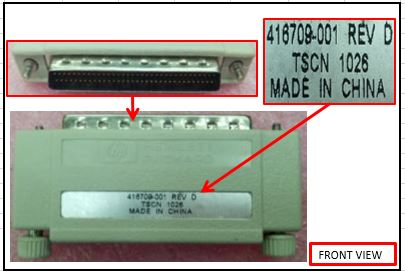 HPE Part 413301-001 Active Wide Single-Ended SCSI terminator - With 68-pin high density (M) connector with thumbscrews