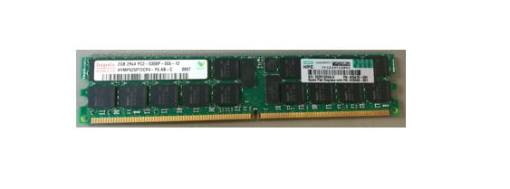 HPE Part 432668-001 2GB, 667MHz, PC2-5300R, DDR2, dual-rank x4, 1.80V, registered dual in-line memory module (RDIMM)