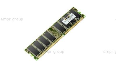 HPE Part 432806-B21 2048MB, PC2-5300, unbuffered advanced ECC DDR2 (1x2048 MB) memory module - Dual Rank