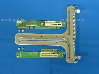 HPE Part 432936-001 PCI riser board assembly with PCIe riser boards - Includes bracket cage, and screws