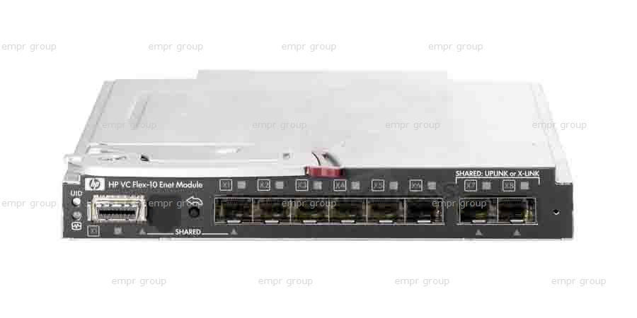 HPE Part 456095-001 HPE BladeSystem c-Class Network Interconnects HPE Virtual Connect Flex-10 10Gb Ethernet Module for the c-Class BladeSystem (Option #: 455880-B21)