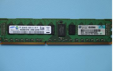 HPE Part 501533-001 HPE 2GB (1x2GB) Dual Rank x8 PC3-10600 (DDR3-1333) Registered CAS-9 Memory Kit. <br/><b>Option equivalent: 500656-B21</b>