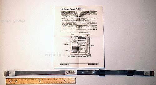HPE Part 5063-8400 Ribbon cable with two self adhesive cable clamps and installation instructions - 8-pin (F) connector marked 'NetServer' to 8-pin (F) connector marked 'Remote Assistant' - 1.0m (39in) cable folded to be 63.5cm (25in) long - From Remote Assistant board to control panel PC board