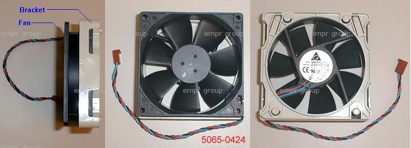HP Part 5065-0424 Rear chassis cooling fan - Includes plastic mounting bracket