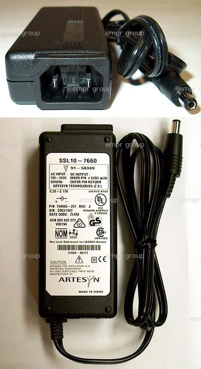 HPE Part 5183-6571 AC adapter for NetServer remote control board - 100-240VAC input, 50-60Hz, requires separate AC power cord - 5VDC output, 2.0A - (D6138A)