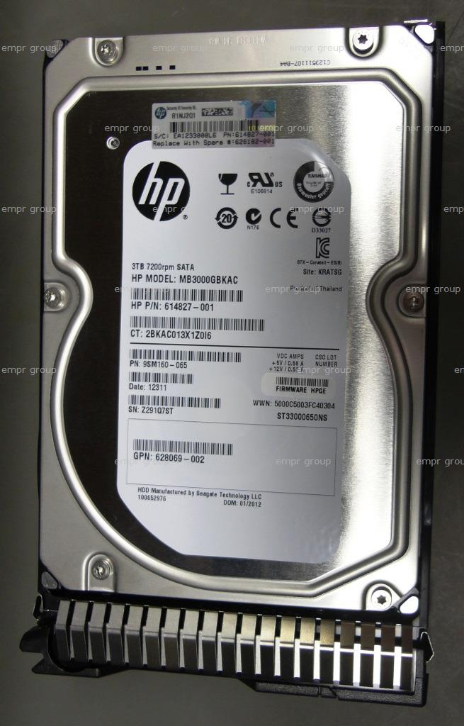 HPE Part 628182-001 HPE 3TB SATA 6G Midline 7.2K rpm LFF (3.5-inch) SC HDD. <br/><b>Option equivalent: 628061-B21</b>