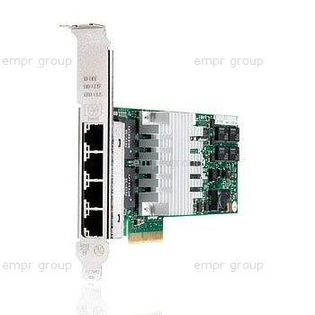 HPE Part 649871-001 Ethernet 1Gb 4-port 331T adapter - Has four 10/100/1000BASE-T RJ45 ports and 4Mb integrated buffer memory - Requires one x4 (Gen2) PCI Express slot (compatible with x8 and x16 PCI Express slots) - Requires CAT5 or better twisted-pair. <br/><b>Option equivalent: 647594-B21</b>