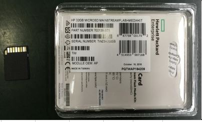 HPE Part 704502-001 HPE 32GB microSD Flash Memory Card. <br/><b>Option equivalent: 700139-B21</b>