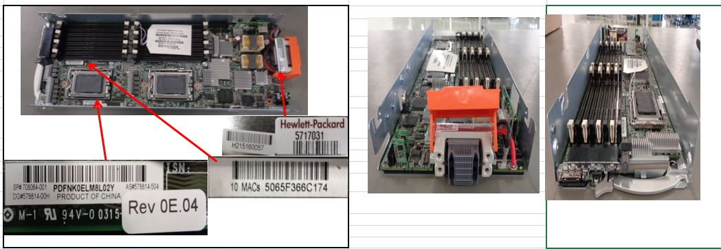 HPE Part 708064-001 System I/O board (motherboard) - Supports 6100/6200 series processor systems processors - Includes base pan assembly, alcohol pad, and thermal grease syringe - Processors must be the same spare part number
