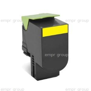 Part Lexm 708Y Yellow Toner - 70C80Y0 Lexm 708Y Yellow Toner