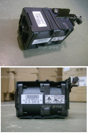 HPE Part 732136-001 Dual-rotor hot-pluggable fan module assembly - Includes the locking latch - Six are used when one processor is installed and eight are used when two processors are installed