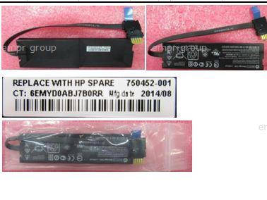 HPE Part 750452-001 MegaCell capacitor pack (battery) 12W, 7.2V - For use with HP Smart Array controllers with flashed back write cache (FBWC)