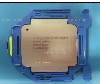 HPE Part 762441-001 Intel Xeon E5-2603 v3 Six-Core 64-bit processor - 1.60GHz base frequency (Haswell-EP, 15MB Intel Smart Cache, Intel QuickPath Interconnect (QPI) speed 6.4 GT/s, 85W Thermal Design Power (TDP), FCLGA 2011-3 socket)