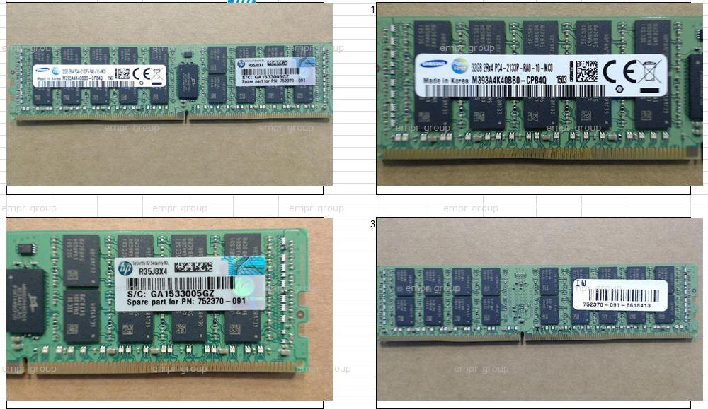 HPE Part 774175-001 HPE 32GB (1x32GB) Dual Rank x4 DDR4-2133 CAS-15-15-15 Registered Memory Kit. <br/><b>Option equivalent: 728629-B21</b>