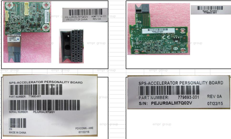 HPE Part 779693-001 SPS-ACCELERATOR PERSONALITY BOARD
