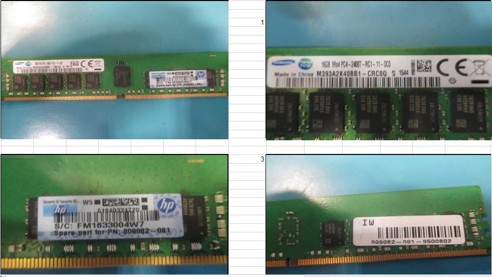 HPE Part 819411-001 HPE SmartMemory 16GB, 2400 MHz, PC4-2400T-R, DDR4, single-rank x8, 1.20 V, CAS-17-17-17, Registered Dual In-Line Memory Module (RDIMM). Option equivalent: 805349-B21