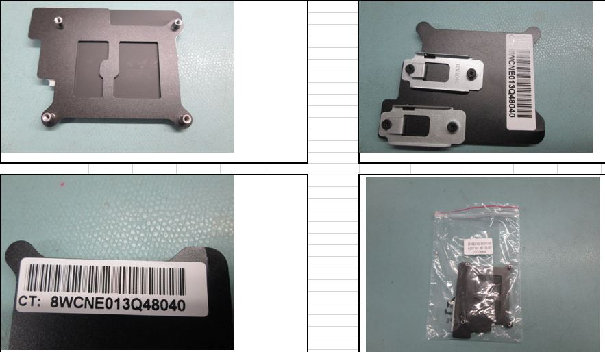 HPE Part 867511-001 SPS-backplate and m.2 holder m510