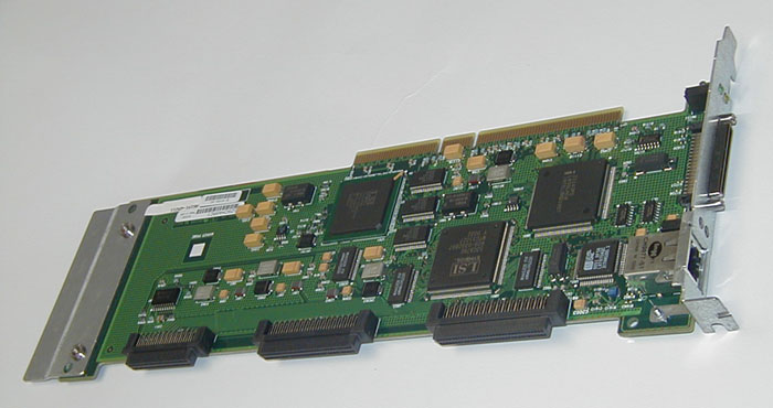 HPE Part A5191-69211 10/100Base-T LAN / 4 port Ultra2 LVD SCSI PC board - Has one external RJ-45 LAN port and one 68-pin Ultra2 LVD Very High Density SCSI port and two internal 68-pin Ultra2 LVD SCSI ports and one 50-pin Ultra SCSI2 port