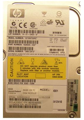 HPE Part A6193-69001 36GB hot swap hard drive module - 15,000 RPM, fiber channel -  (A6193A)