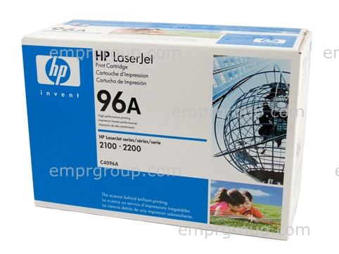 HP Part C4096A LaserJet 2100 and 2200 series toner cartridge (Ultra-Precise) - Prints approximately 5, 000 pages