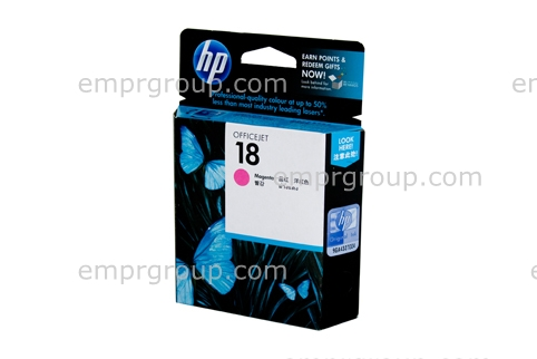 HP Part C4938A HP 18 Magenta Ink Cartridge