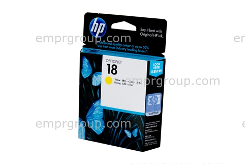 HP Part C4939A HP 18 Yellow Ink Cartridge