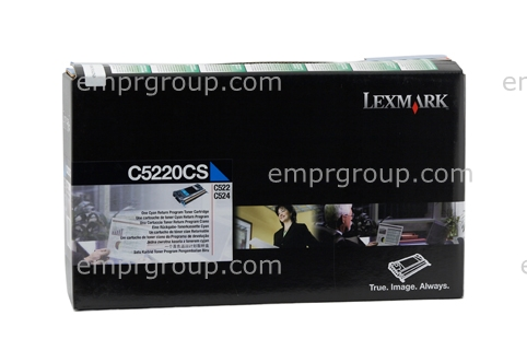 Part Lexmark C5220CS Cyan Prebate Cart Lexm C5220CS Cyan Prebate Cart