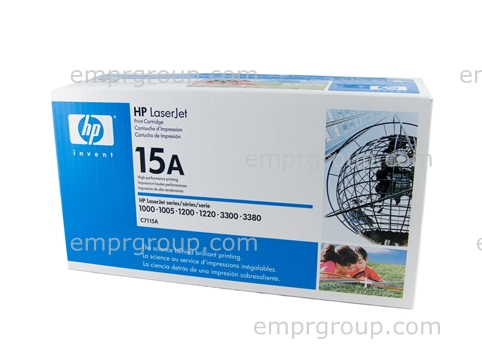 HP Part C7115A Ultraprecise black toner cartridge - Will print approximately 2,500 pages based on a 5% print density