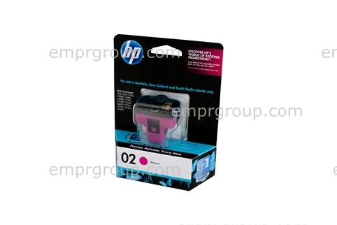 HP Part C8772WA HP 02 Magenta Ink Cartridge (Asia Pacific)