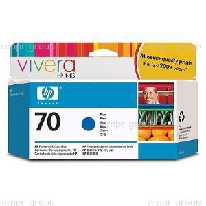 HP Part C9458A HP 70 Blue Ink Cartridge - Print cartridge volume 130ml