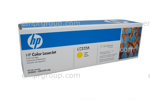 HP Part CC532A HP Color LaserJet Yellow Print Cartridge - Prints approximately 2800 standard pages