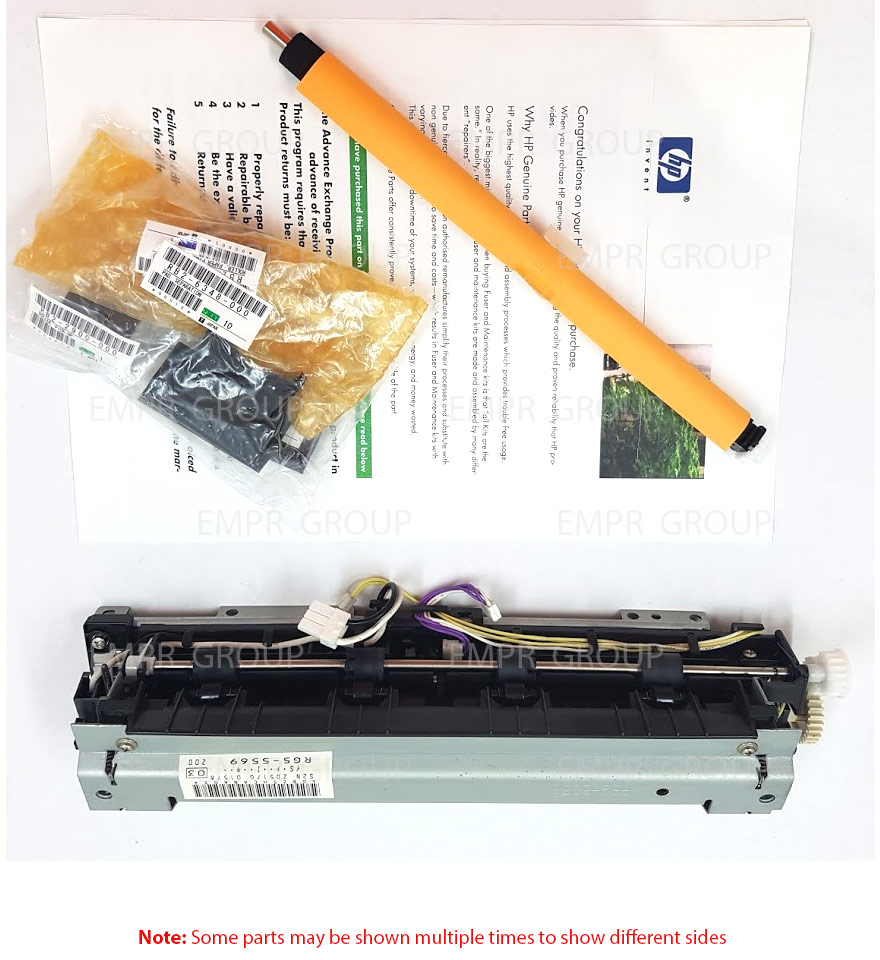 HP Part H3978-60002 Maintenance Kit (220V) - Includes fuser roller assembly, transfer roller assembly, Tray 1 and Tray 2 pickup rollers, Tray 1 and Tray 2 separation pads - Procedure requires use of service manual - Not for warranty use