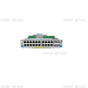HPE Part J9536A ProCurve Switch zl 20P Gig-T PoE+ / 2P SFP+ v2 Module -  Includes 20 RJ45 10/100/1000BASE-T autosensing ports (capable of supplying Power over Ethernet Plus (PoE+) per IEEE 802.3at standard) and two 10-GbE Small Form-factor Pluggable Plus (SFP+) ports