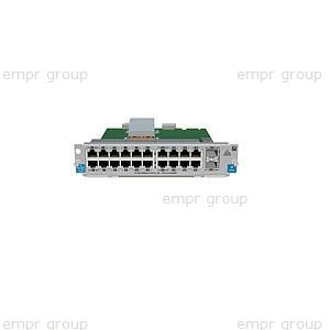 HPE Part J9548A ProCurve Switch zl 20P Gig-T / 2P SFP+ v2 Module -  Includes 20 RJ45 10/100/1000BASE-T autosensing ports and two 10-GbE Small Form-factor Pluggable Plus (SFP+) ports -  PoE is NOT supported on this module