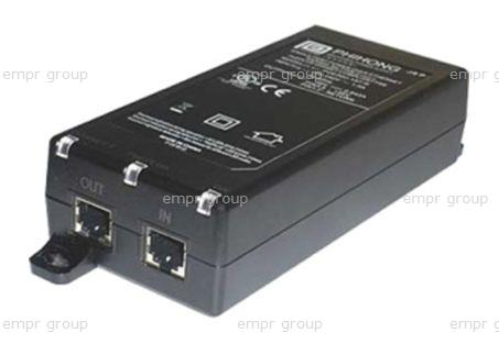 HPE Part JD054A Midspan IEEE 802.3at Gigabit Power over Ethernet Plus (POE+) Single Port Injector (100-240VAC, 50/60Hz power input) - Provides 56VDC at up to 33.6 watts of power to a single 10/100/1000Mbps port - Connects between a switch or router and the network device