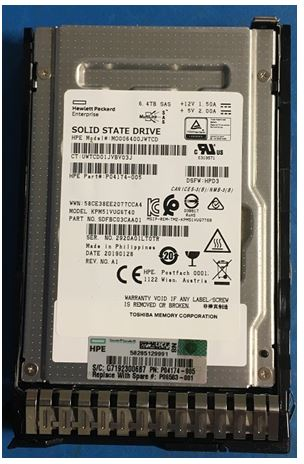 HPE Part P06583-001 6.4TB SAS Solid State Drive (SSD) - 2.5-inch small form factor (SFF), mixed use (MU), smart carrier (SC), Digitally Signed Firmware (DS). <br/><b>Option equivalent: P04539-B21</b>