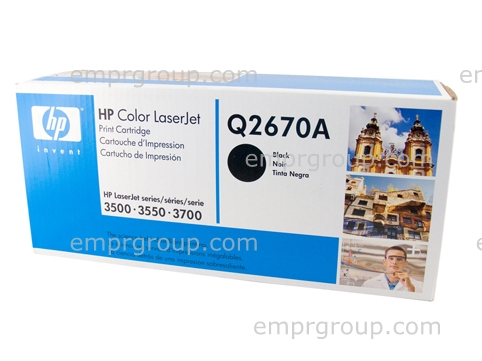 HP Part Q2670A HP Color LaserJet smart Black print cartridge - Contains toner, developer and imaging drum - Will print approximately 6,000 pages based on a 5% print density